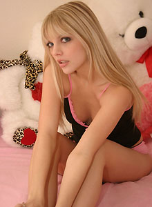 Jana Shows Off Her Tight Round Ass In Pink Panties - Picture 1