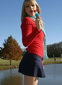 Jana Shows Off Her Oral Skills With A Popsicle - Picture 9